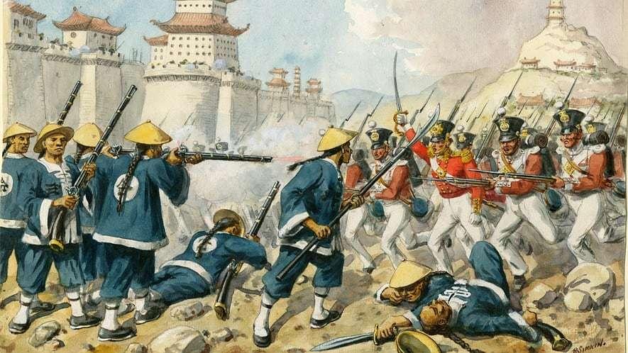 Image result for Chiến Tranh Nha Phiến