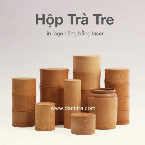 Hộp trà tre (in logo riêng) 1