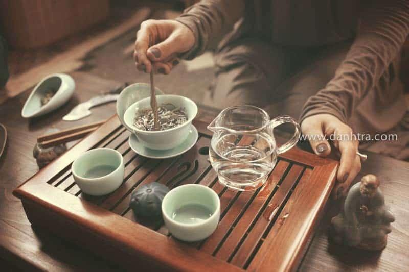 pha trà, trà thái nguyên