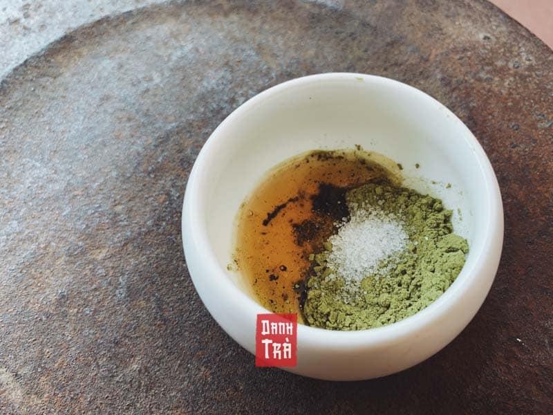 mặt nạ trà xanh mật ong, mặt nạ trà xanh, bột trà xanh