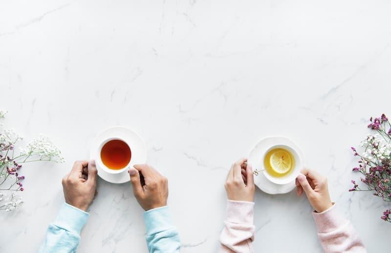 uống trà, tách trà, hồng trà, lục trà, trà xanh, trà đen