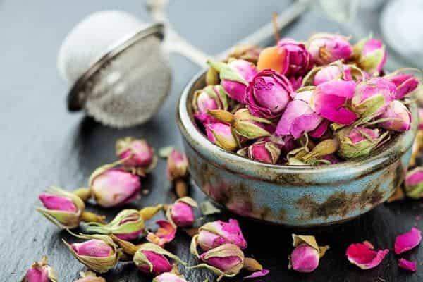 trà hoa hồng, nụ hoa hồng, hoa hồng khô