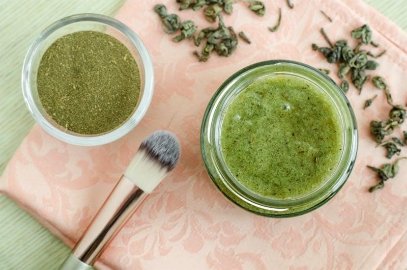 mặt nạ trà xanh, mặt nạ matcha, bột trà xanh đắp mặt, mặt nạ bột trà xanh